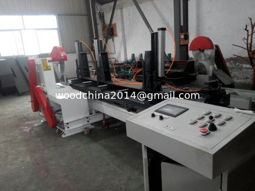 Computer automatic type twin blades sliding table circular sawmill
