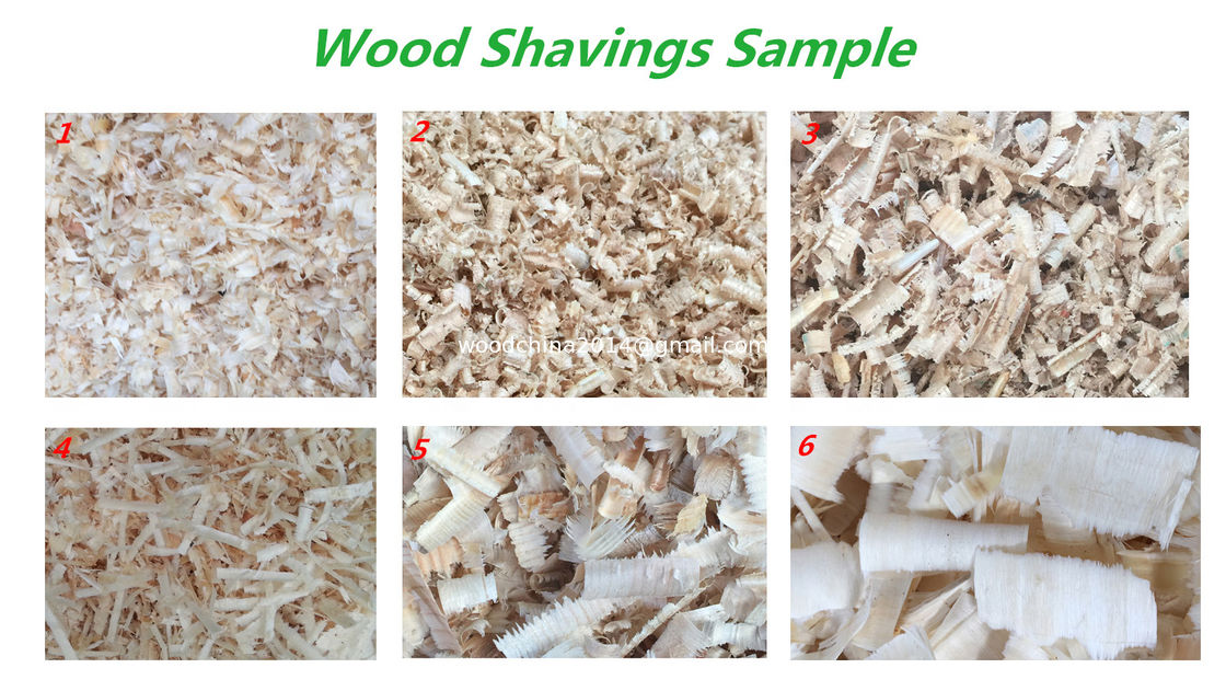 wood shaving machine shavings making full production line with drying, bagging machine
